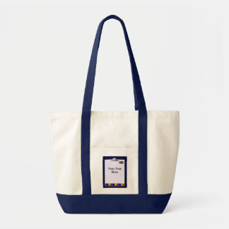Teacher Crayons Design Impulse Tote Bag