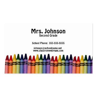 Teacher Crayons Template Business Cards