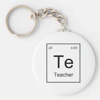 Teacher Element Basic Round Button Key Ring