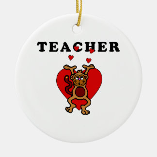 Teacher Fun Ceramic Ornament