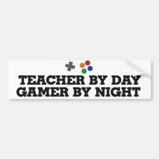 Teacher gamer bumper sticker