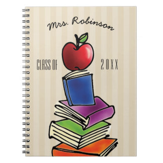 Teacher Gift from Class Apple with Book Stack