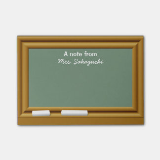 Teacher Gift Personalized A Note From Chalkboard Post-it® Notes