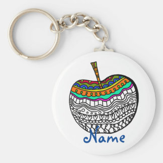 Teacher Gift Under $5 Personalized thank you Basic Round Button Key Ring