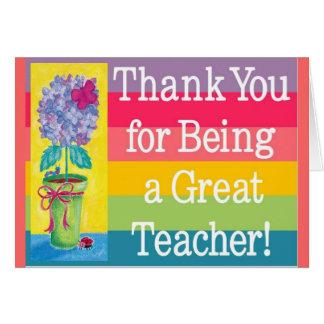 Teacher gifts card