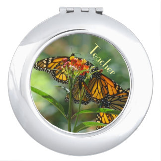 Teacher gifts compact mirrors Monarch Butterflies