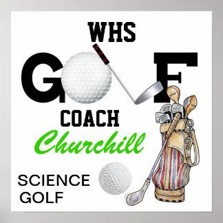 Teacher Golf Coach Sign - Door Poster - SR