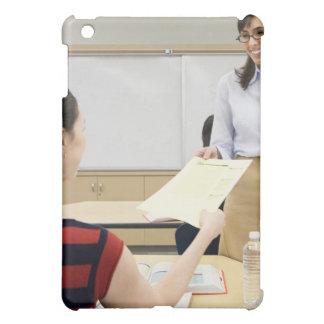Teacher handing paper back to student iPad mini cases