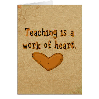 Teacher Heart Thank You Card