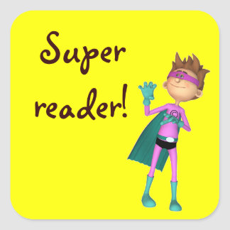 Teacher inspirational reading sticker