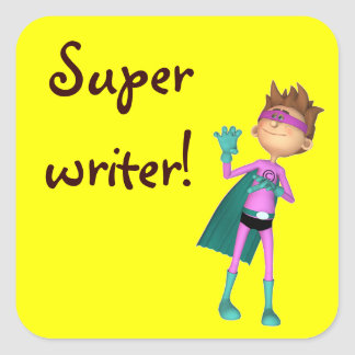 Teacher inspirational writer sticker