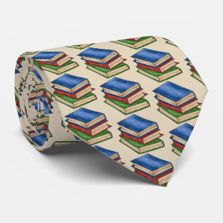 Teacher Librarian Reading Library Book School Tie
