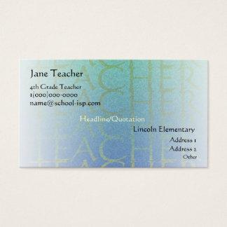 Teacher Light Blue Business Profile Card Template