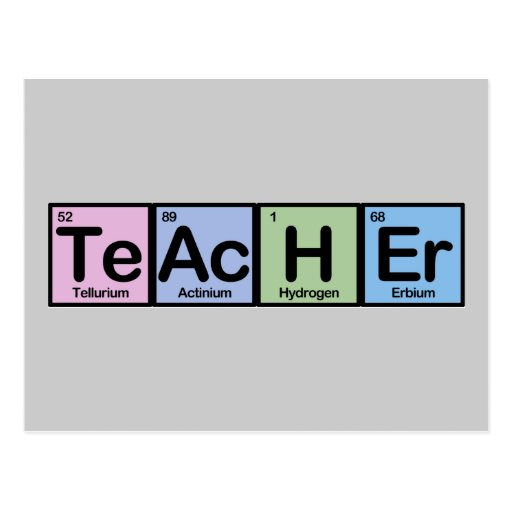 Teacher made of Elements Post Card