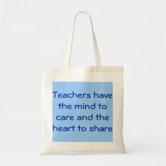 Teacher Mind/Heart Tote Budget Tote Bag