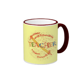 Teacher Motto Ringer Mug