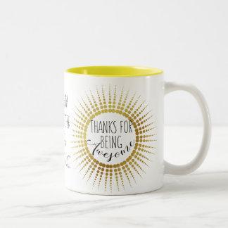 Teacher mug, awesome, best teacher, gift Two-Tone coffee mug
