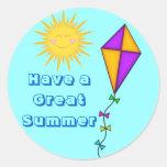 Teacher/Mum Stickers Summer Sun and Kite