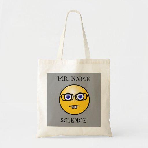 Teacher Nerdy Emoticon Bag