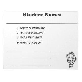 Teacher parent communication notepad