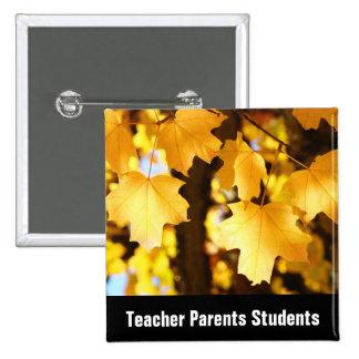 Teacher Parents Students buttons Back to School