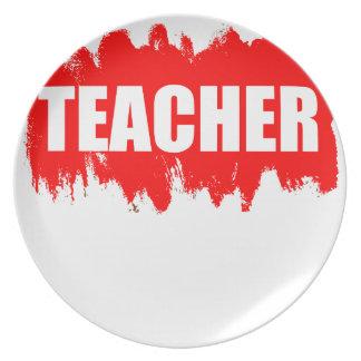 Teacher Party Plate