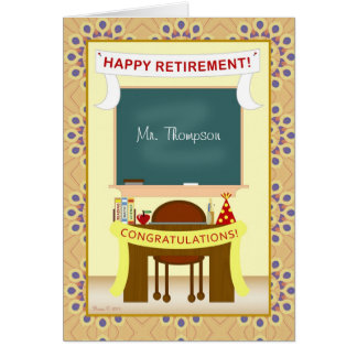 Teacher Personalized Retirement Party Invitation
