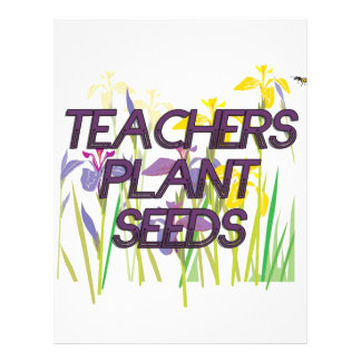 TEACHER PLANT SEEDS 21.5 CM X 28 CM FLYER