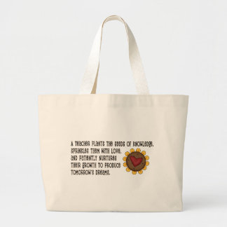 Teacher Plants Seeds Tshirts and Gifts Large Tote Bag