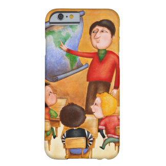 Teacher pointing to map, three children in desks barely there iPhone 6 case