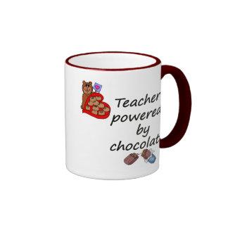 Teacher powered by Chocolate Ringer Mug