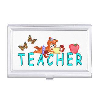Teacher Reading Business Card Holder