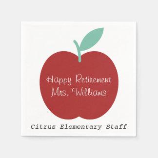 Teacher Retirement Apple Party Napkins Disposable Serviette