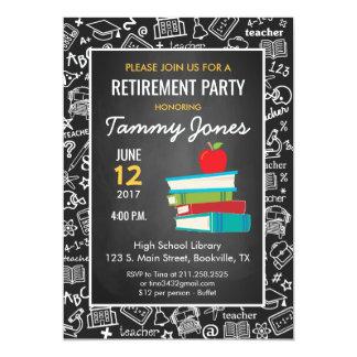 Teacher Retirement Invitation blackboard