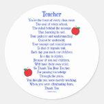 Teacher Round Sticker