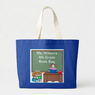 Teacher s Chalk Board Female Book Bag