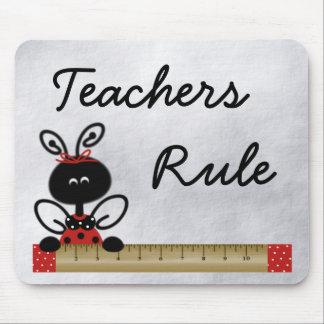 Teacher s Ladybug With Ruler Mouse Pad