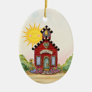 Teacher - School House - SRF Ceramic Oval Decoration