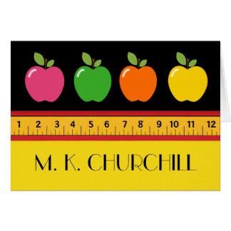 Teacher School Note Card