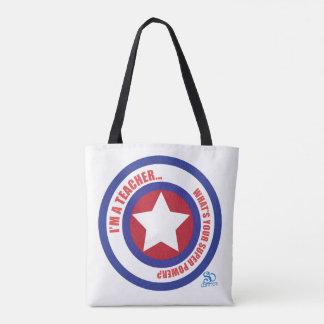 Teacher Super Hero Tote Bag