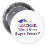 Teacher Superhero 7.5 Cm Round Badge