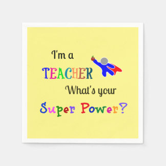 Teacher Superhero Paper Napkin