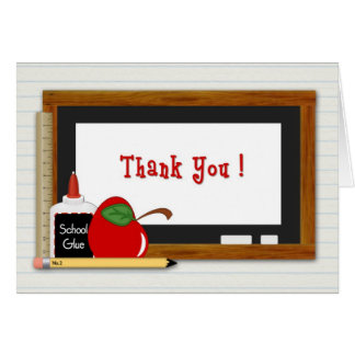 Teacher Supplies Thank You Card