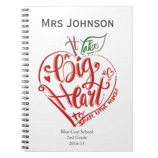 Teacher Thank you notebook word art