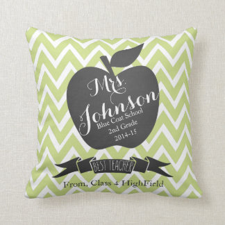 Teacher Thank you pillow apple chevron