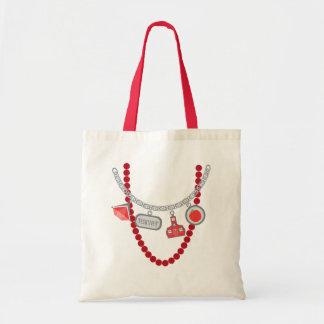Teacher Trompe L Oeil Charm Necklace Beads Bags