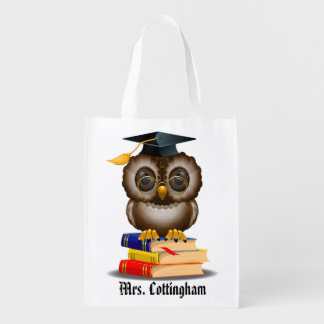 Teacher Wise Owl Grocery / Gift Tote - SRF