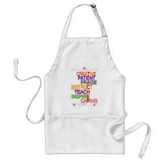 Teacher Word Cloud Apron Gift