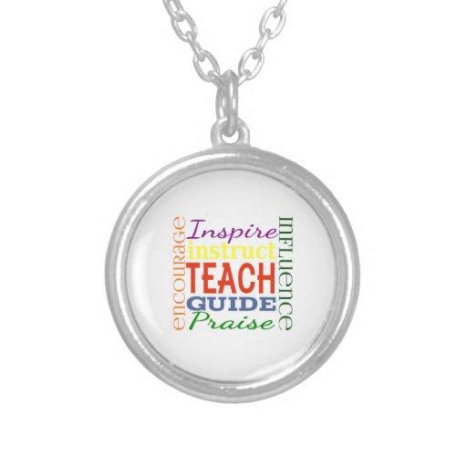 Teacher Word Picture Teachers School Kids Custom Jewelry