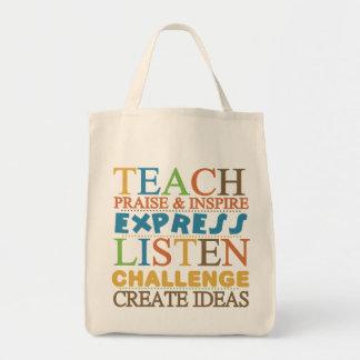 Teacher Words To Live Byy Bag